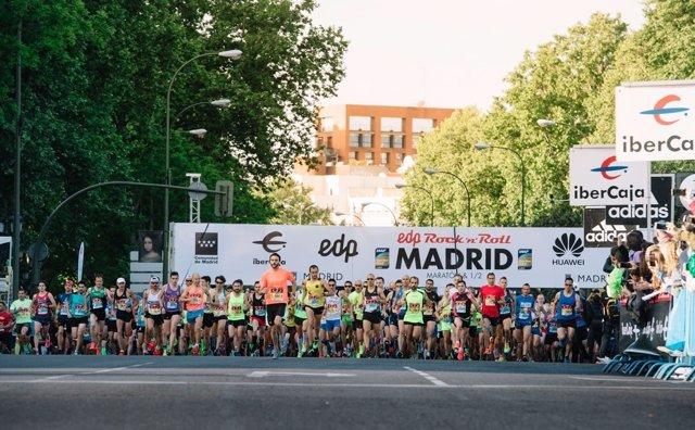 Dida y Cheokanan, triunfadores en la maratón de Madrid