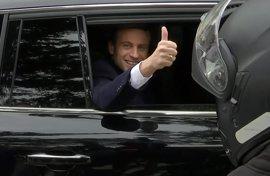 Macron y Le Pen vencen la primera vuelta electoral, según sondeos