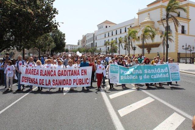 Marea Blanca en Cádiz