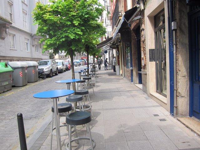 Terraza en zona de bares de Santander