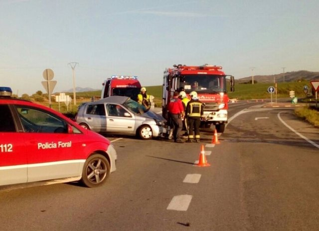 Accidente de tráfico en Allo.