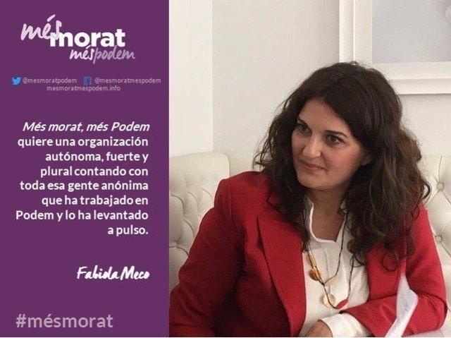 La corriente apoya la candidatura de Fabiola Meco a liderar Podem