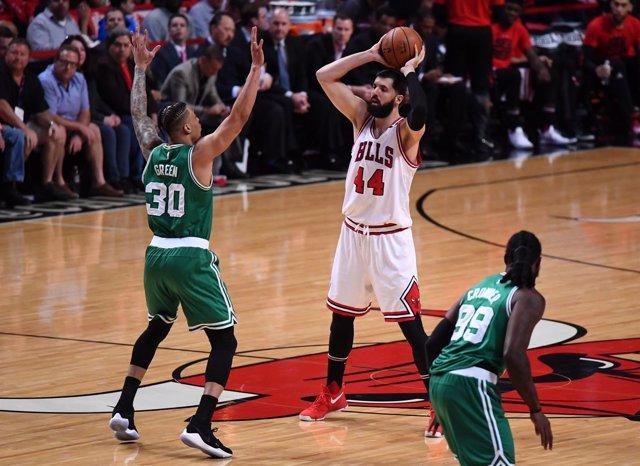 Mirotic en el Chicago Bulls - Boston Celtics
