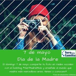 Campaña 'Ser madre mola', del Foro de la Familia, por el Día de la Madre