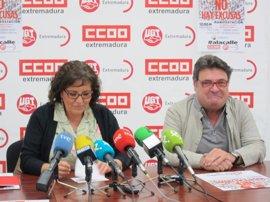 CCOO y UGT pedirán mejoras laborales y un tren digno para Extremadura en la manifestación del 1 de Mayo en Mérida