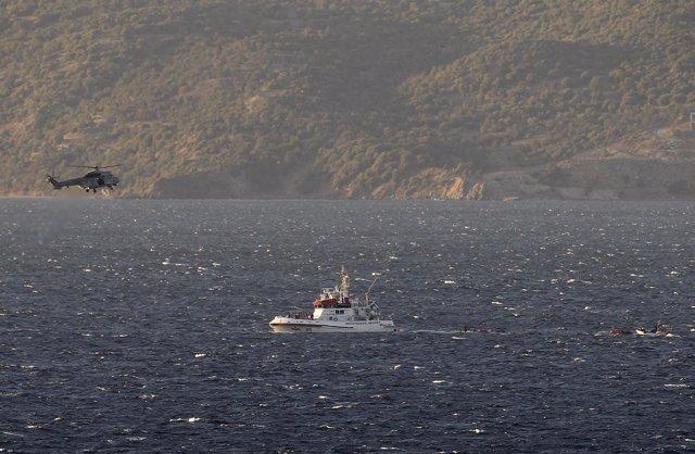 Naufragio en la isla de Lesbos