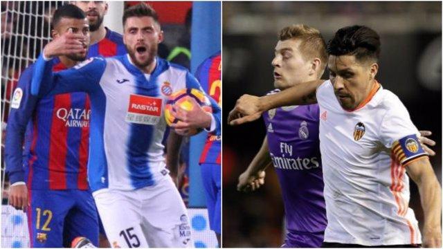 Espanyol y Valencia, escollos de los grandes