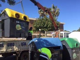 Comienza la instalación de 1.655 contenedores nuevos en Palma