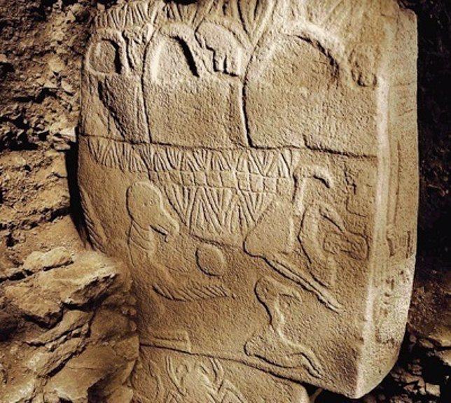 Piedra analizada en Gobleki Tepe
