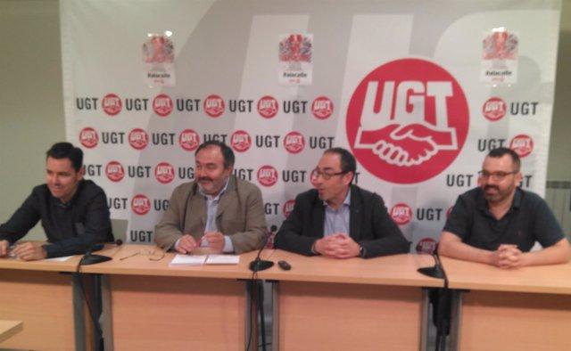 CCOO y UGT. Pedrosa y De la Rosa