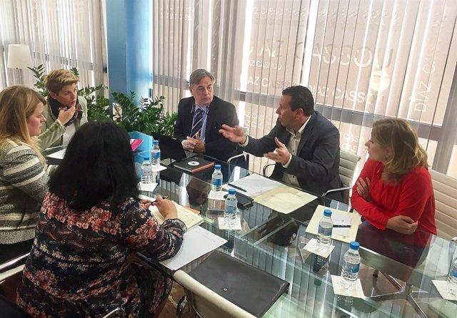 Arroyo y Albadalejo junto a alcaldes