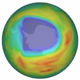 Agujero de ozono en la Antártida