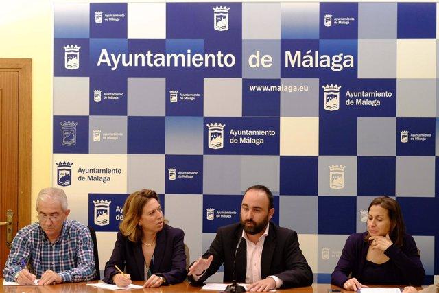 Elvira Maeso y Mario Cortés en rueda de prensa