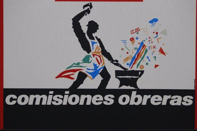 Sede CCOO, logo de Comisiones Obreras