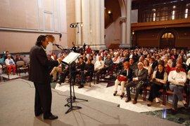 Homenaje a los autores del Himno de Aragón en el Edificio Pignatelli