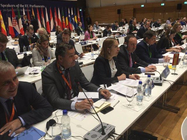 Ana Pastor, en la Conferencia de Presidentes de Parlamentos Europeos