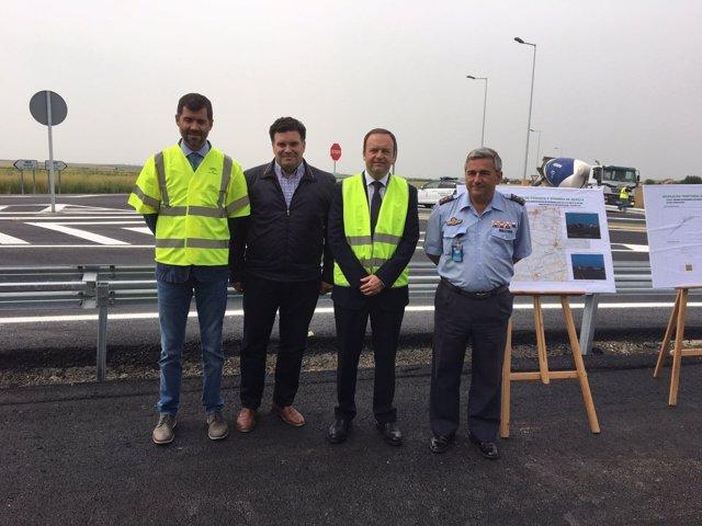 Finalizado el nuevo acceso a la base aérea de Morón de la Frontera (Sevilla)