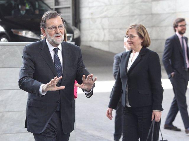 Rajoy acude a un acto de la CEOE