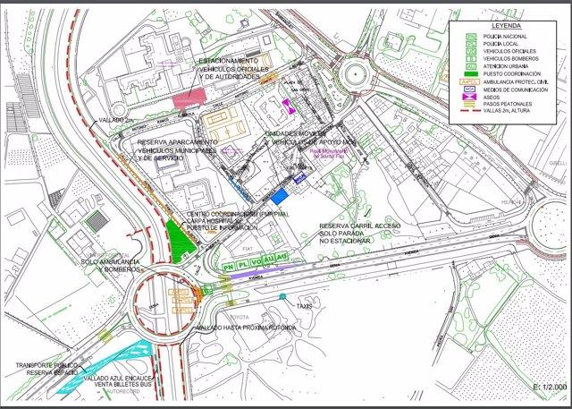 Plano detallado del entorno del Caserío de la Santa Faz