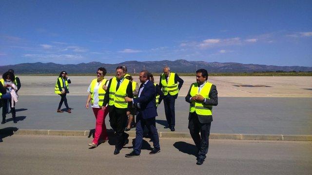 El 'president' ha visitado el aeropuerto