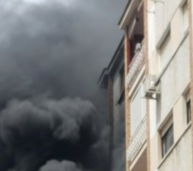 Afectadas siete personas tras incendio en Málaga capital