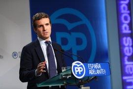 """Casado dice que PP y Gobierno están en la misma línea tras citación de Rajoy: """"Del tribunal no hemos dicho nada"""