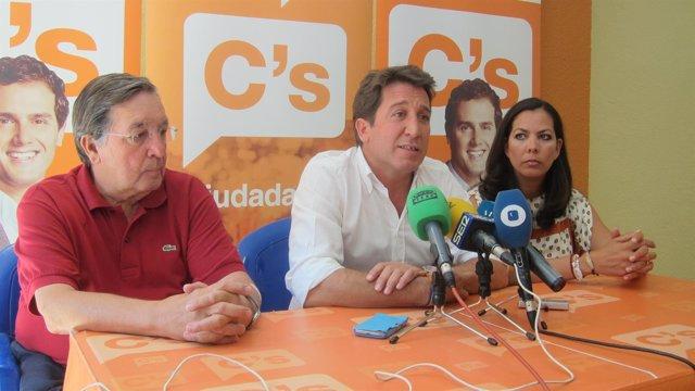 Ruperto Gallardo, María Martín y Enrique Figueroa.