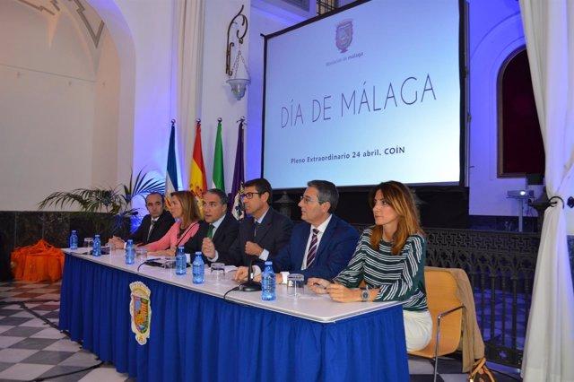 Diputación de málaga celebra día de malaga pleno previo coín guadalhorce bendodo