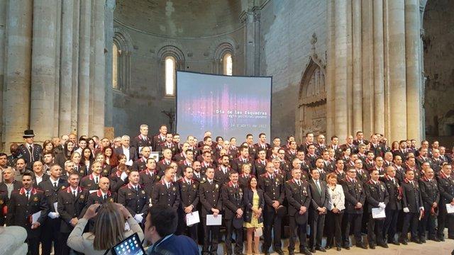 Celebración del Día de las Escuadras en Lleida