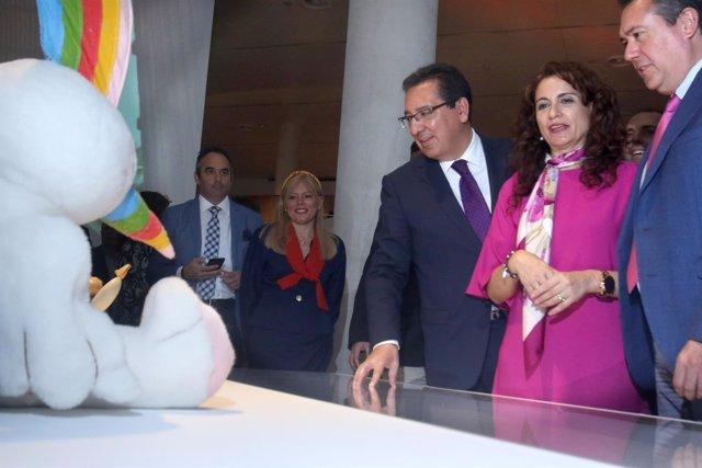 Inauguración oficial de la exposición conmemorativa de los 25 años de la Expo 92