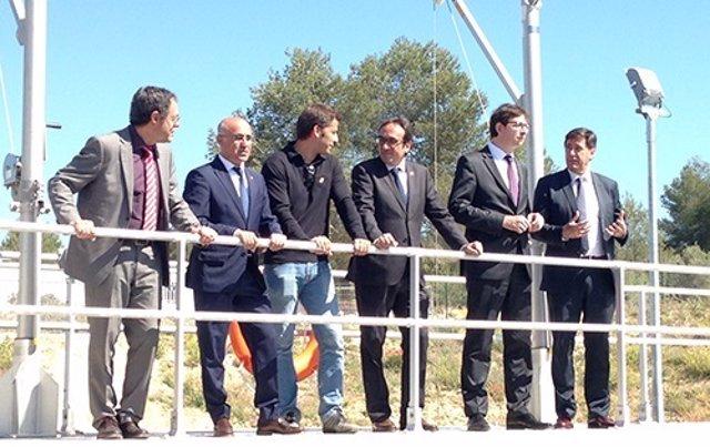Inauguración de la depuradora de la prisión de Mas Enric