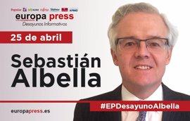 El presidente de la CNMV, Sebastián Albella, participará este martes en los Desayunos Informativos de Europa Press