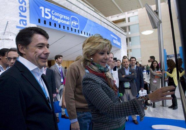 Esperanza Aguirre E Ignacio González En El XV Congreso Del PP Regional