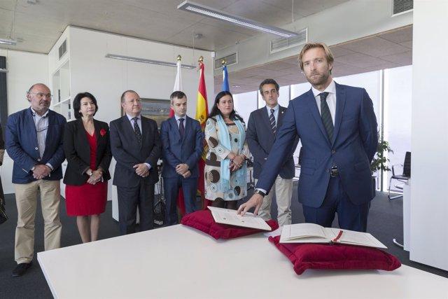 Toma de posesión de Felipe Piña como director general de Transportes