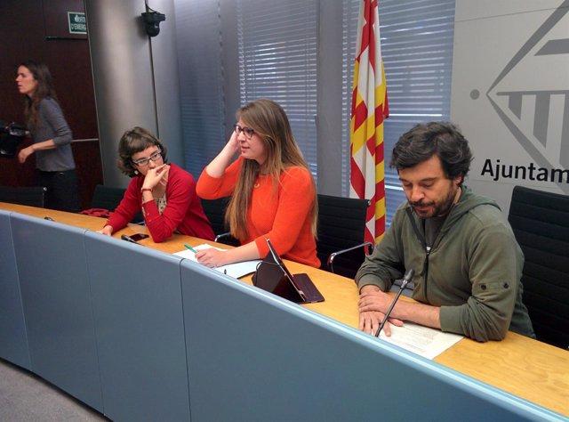 Comisión de Urbanismo de Barcelona con Mercedes Vidal, Janet Sanz y Daniel Mòdol