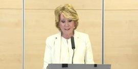 """El Grupo Popular municipal manifiesta su """"enorme tristeza"""" por la dimisión de Esperanza Aguirre"""