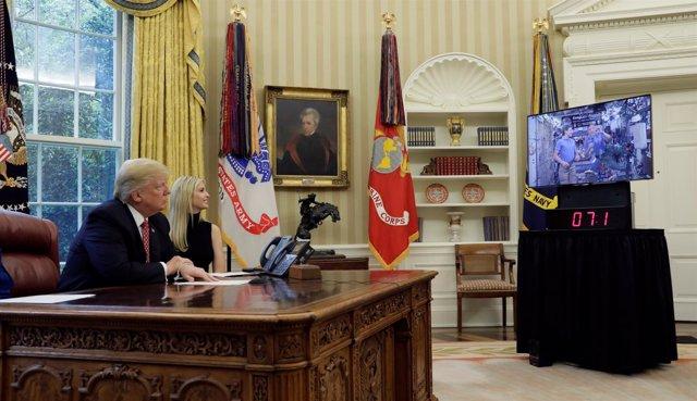Donald Trump habla con la Estación Espacial Internacional