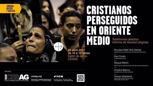 Jornada sobre cristianos perseguidos en oriente medio