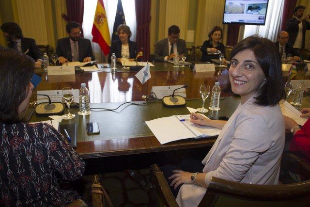 La conselleira, en Madrid