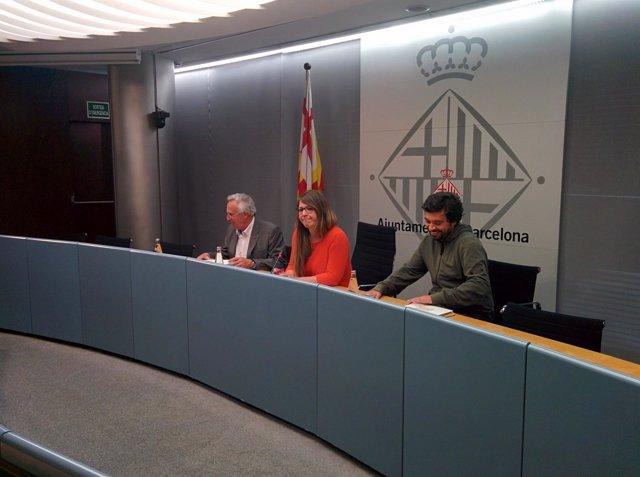 Ángel Sánchez (Bimsa), Janet Sanz y Daniel Mòdol
