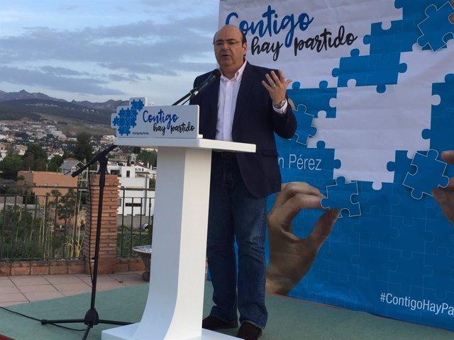Acto del presidente del PP de Granada, Sebastián Pérez, en Huétor Vega