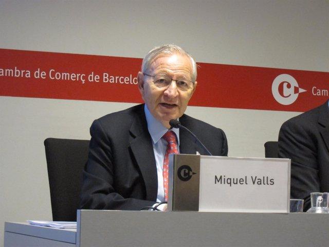El pte.De la Cámara de Comercio de Barcelona, Miquel Valls