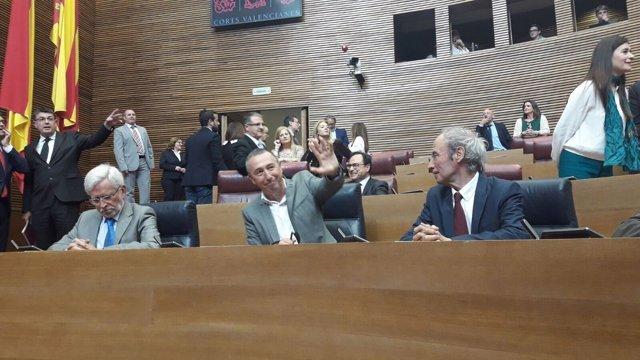 Lerma, Baldoví y Ciprià Ciscar, en las Corts Valencianes