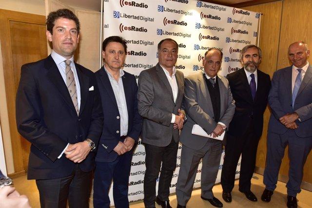 Javier Tebas y los ponentes