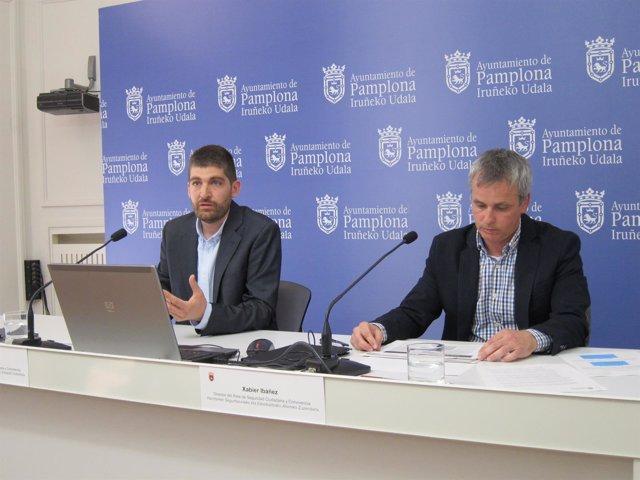 Aritz Romeo y Xabier Ibañez, en la rueda de prensa