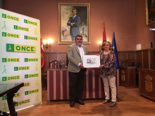 Presentación del cupón en Ciudad Rodrigo.