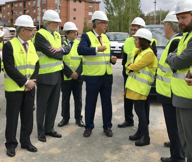 Visita de obras de los Juegos Mediterráneos de Tarragona 2018