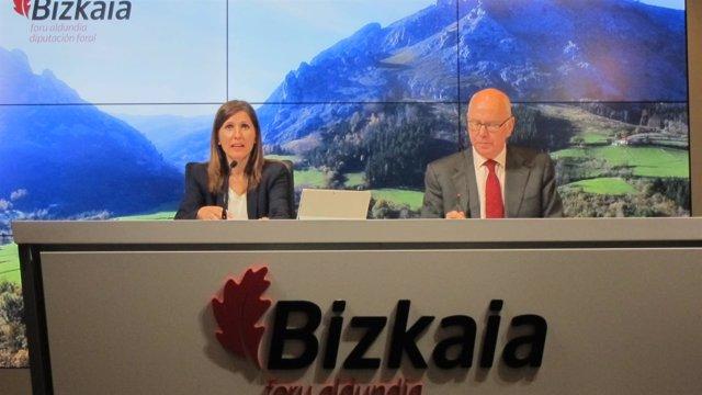 Los diputados vizcaínos Elena Unzueta y José María Iruarrizaga