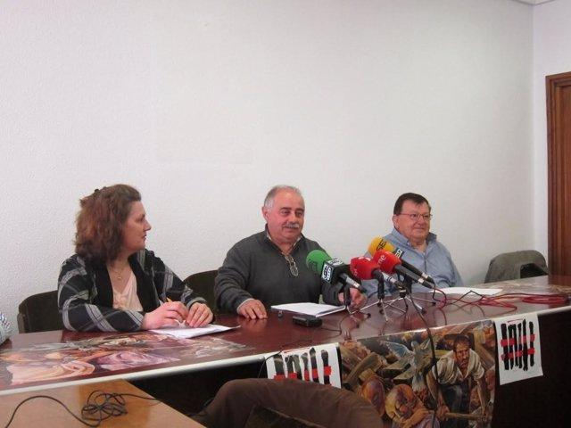 Palencia. Rueda de prensa de la Asociación Gaspar Arroyo