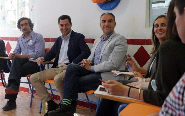 Juanma Moreno (PP-A) reunión con escuelas infantiles